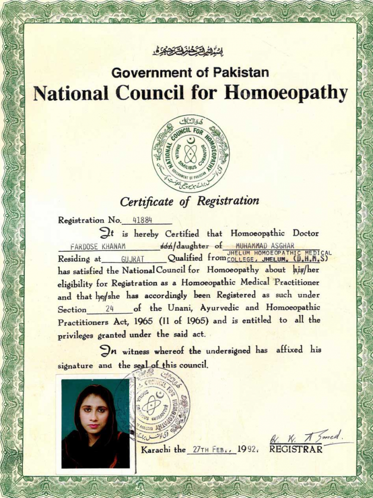 National Council Homeopathy